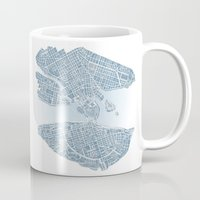 stockholm Mugs featuring Stockholm  by Anna Eggertz