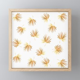 Golden Palm Leaf Framed Mini Art Print