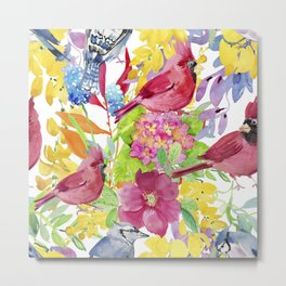 Lovely Birds Metal Print