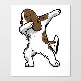 Funny Dabbing English Springer Dog Dab Dance Canvas Print