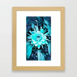 Blue Cereus Flower Framed Art Print