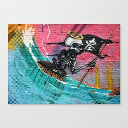 Sailing Skeleton  Canvas Print