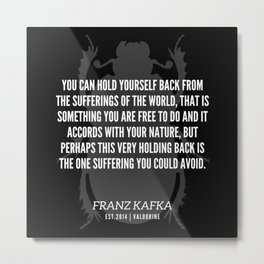 43   |  Franz Kafka Quotes | 190517 Metal Print