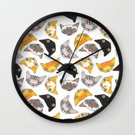 """""""Oro?"""" Cats Wall Clock"""