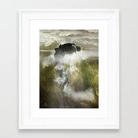arya Framed Art Prints featuring Man floating by ARTiSTiC TENDENCiES