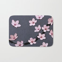 Triangluated Blossoms Bath Mat