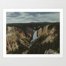 Yellowstone National Park Falls Art Print