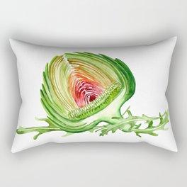 Artichoke composition with arugula Rectangular Pillow