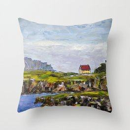 a cove in trinity, NL Throw Pillow