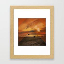 Translucent Sunset Framed Art Print
