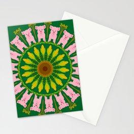 Pleasant Pig Mandala Design Stationery Cards