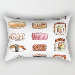 Watercolor sushi set Rectangular Pillow