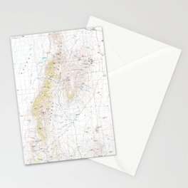NV Jackson Mts 321521 1985 topographic map Stationery Cards