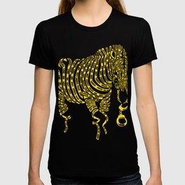 Yellow Zebra Crime Scene Artwork T-shirt