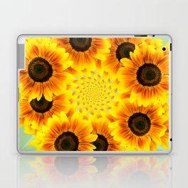 Spinning Sunflowers Laptop & iPad Skin