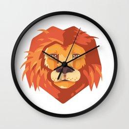 Lion Head Animal Kids Gift Wall Clock