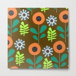 Floral alleys Metal Print