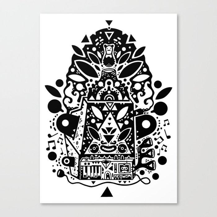 kozmik machine Canvas Print