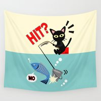 fishing Wall Tapestries featuring Fishing by BATKEI