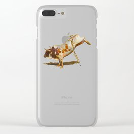 It's All Bull! - Bucking Rodeo Bull Clear iPhone Case