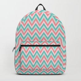 Pink & Blue Chevrons Backpack