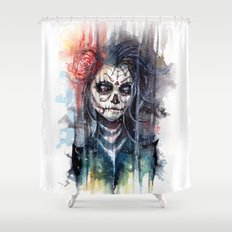 sugar skull - calavera de azucar Shower Curtain