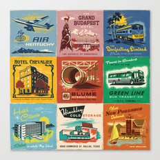 WES ANDERSON MATCHBOOK SERIES Canvas Print