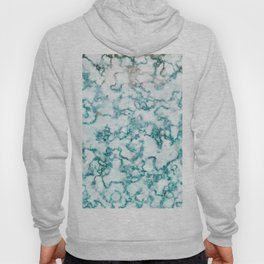 Turquoise Marble Hoody