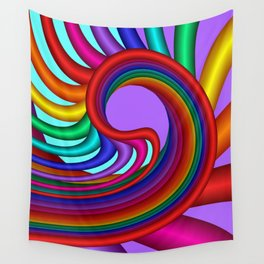 fluid -244violet Wall Tapestry