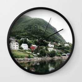 village in norway Wall Clock