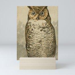 Vintage Print - Great Horned Owl Mini Art Print