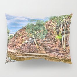 Rocks at Brachina Gorge, Flinders Ranges, Sth Australia Pillow Sham
