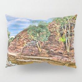 Rocks at Brachina Gorge, Flinders Ranges, Sth Australia Pillow Sham