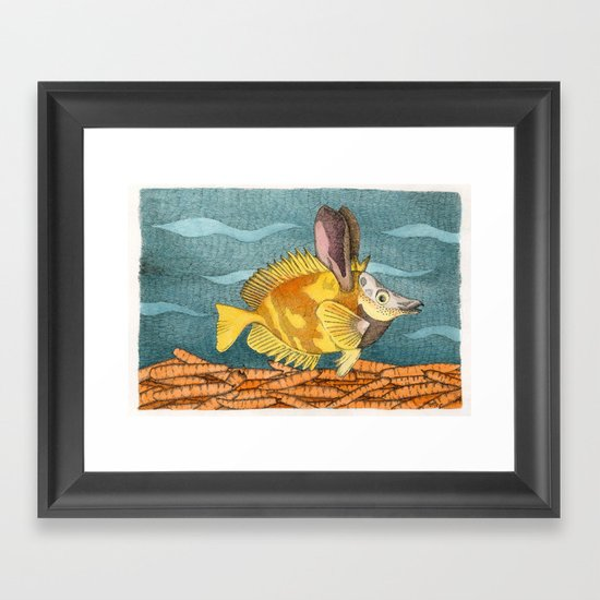 Foxface rabbit fish Framed Art Print