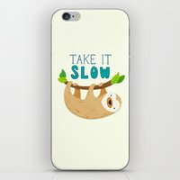 sloth iPhone & iPod Skins featuring Sloth by Claire Lordon