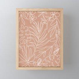 Engraved Tropical Line Framed Mini Art Print