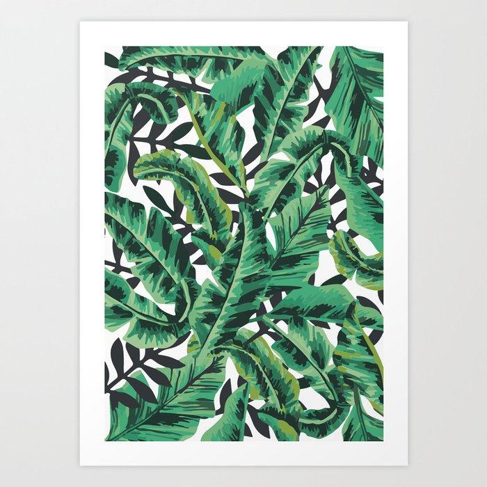 Tropical Glam Banana Leaf Print Art Print By