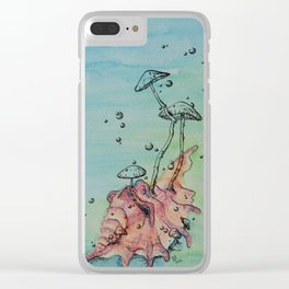 Ocean Fungi Party: Fourth Clear iPhone Case