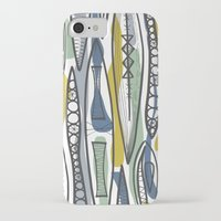 mid century iPhone & iPod Cases featuring Mid-Century Shapes by patternjots