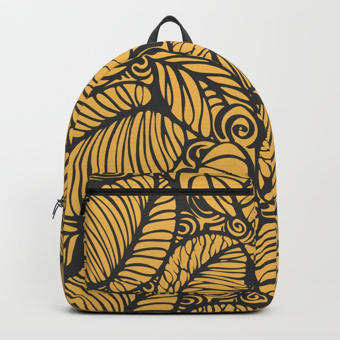 Summer Leaves Gold Backpack
