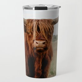 Highland Cow in nature | Scottish Highlanders, cattle in the Netherlands | Wild animals | Fine art travel and nature photography art print Travel Mug