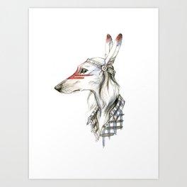 Native saluki Art Print