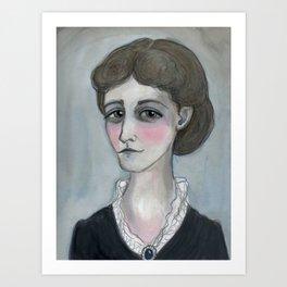 The Age of Wharton, Literary Portrait Art Print