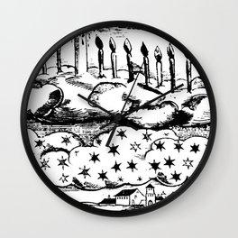 Mediaeval Northern Light Wall Clock