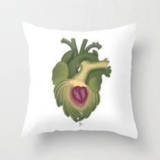 Cor, cordis (artichoke heart) Throw Pillow