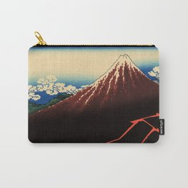 """Hokusai (1760–1849) """"Rainstorm Beneath the Summit"""" Carry-All Pouch"""