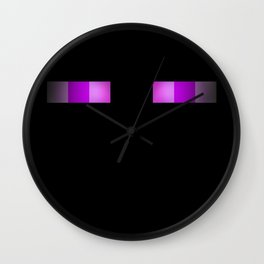 I see you - Enderman Eyes Wall Clock