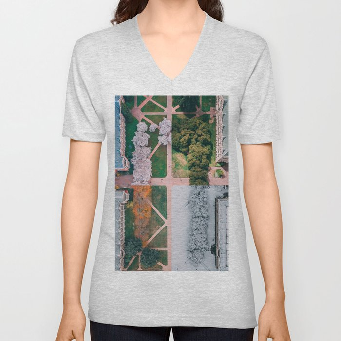 UW Cherry Blossoms: 4 Seasons Unisex V-Neck