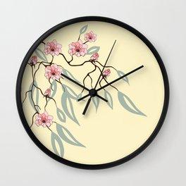 Floral. Dreams of spring. Pink sakura. Wall Clock