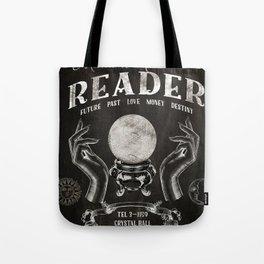 Gypsy Crystal Ball Reader Sign Tote Bag